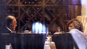 María Teresa Campos cenando junto a su amigo Emilio Javier Gómez