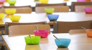 Imatge d'arxiu d'un menjador escolar