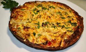 Imatge de frittata de pasta i verdura