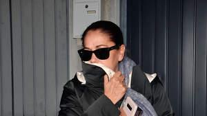 Isabel Pantoja durante el entierro de la madre de Irene Rosales. 7 de febrero de 2019