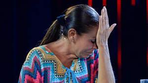 Isabel Pantoja al plató de 'Supervivientes' després d'haver d'abandonar per problemes de salut (11-07-19)