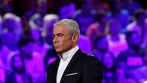 Jorge Javier Vázquez serio en el plató de Tele5