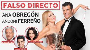 Cartel de la obra de teatro 'Falso Directo' protagonizada por Ana Obregón y Andoni Ferreño