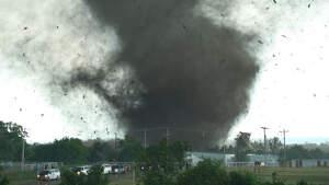 Imagen de un tornado en los Estados Unidos