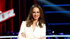 Eva González durant la presentació de la nova temporada de 'La Voz'