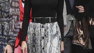 Letizia sonriente con su nuevo 'look'