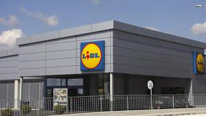 Exterior de un supermercado Lidl