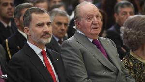Los Reyes Felipe y Juan Carlos en los premios nacionales del deporte el 10 de enero de 2019