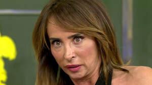 María Patiño en una de sus intervenciones en 'Sálvame'
