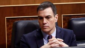 Pedro Sánchez el 18 de marzo de 2020 en el Congreso de los Diputados
