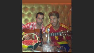 Sergio Ramos junto a un amigo que acaba de fallecer