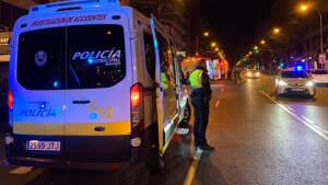 Imagen de la Policía en Madrid durante la atención de un accidente