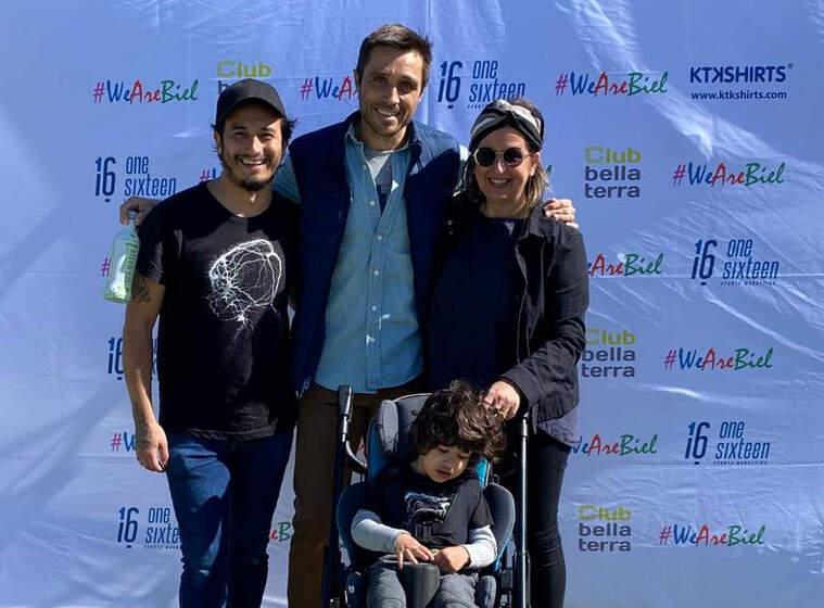 Biel Chang, Jose i Judit, els seus pares i l'ex-tennista Fernando Belasteguin