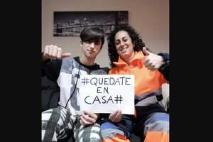 Rocío Granero i el seu fill envien un missatge a la població