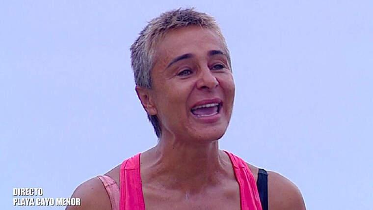 Ana María Aldón en 'Supervivientes' reconociendo que su padre maltrató a su madre