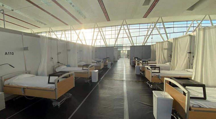Interior de l'Hospital de campanya del Vallès
