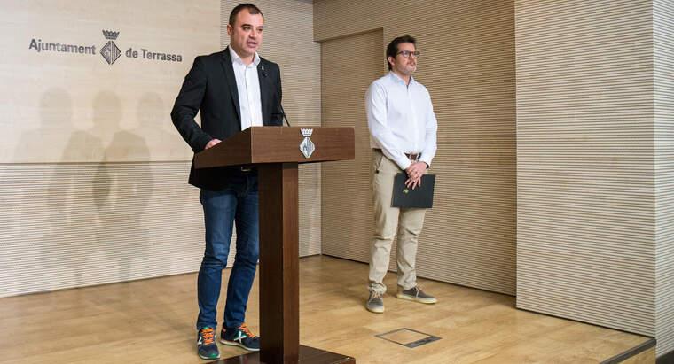 Jordi Ballart i Isaac Albert en la roda de premsa telemàtica