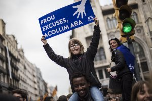 Manifestació a Barcelona pels refugiats
