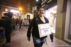 Manifestació femenista a Terrassa