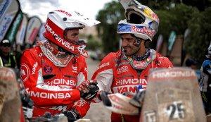 El cambrilenc Ivan Cervantes, a la dreta, representant del Camp al Dakar 2017.