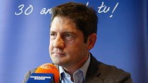 Lluis Fàbregas durant l'entrevista al Sempre Nàstic d'aquest migdia