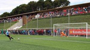 La Mare Nostrum Cup provoca que les instal·lacions del CE Futbol Salou bullin amb la presència d'esportistes