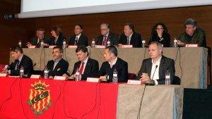 El Consell d'Administració en una Junta General d'Accionistes