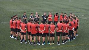 El CF Pobla ha fet el primer entrenament de la temporada.