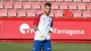 El jove porter Àlex Campos s'ha lluït durant la primera meitat amb diverses intervencions
