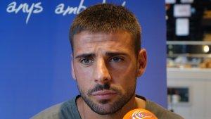 Xavi Molina durant l'entrevista al Sempre Nàstic