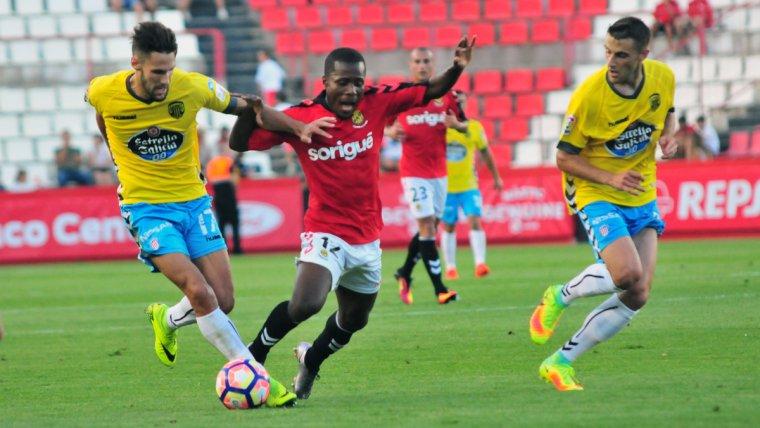 Jean Luc va jugar el darrer Nàstic-Lugo corresponent a la primera jornada de lliga de la temporada passada