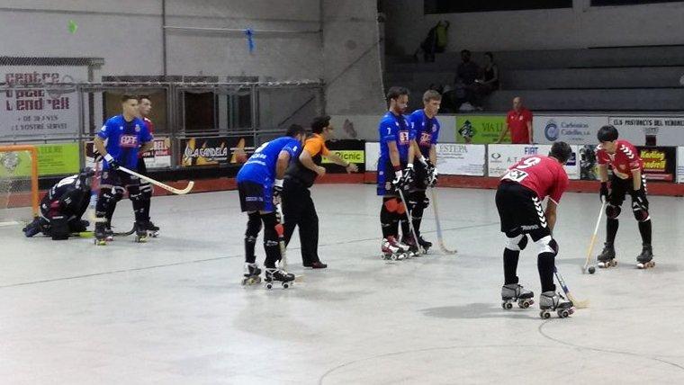 Vendrell i Girona van disputar un entretingut partit