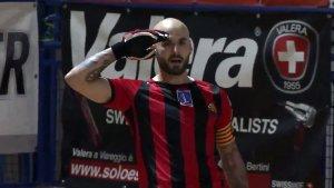 Raül Marín celebra el gol que ha donat el bitllet per a la gran final
