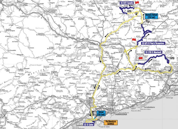 Imatge de l'itinerari de l'etapa de dissabte 7 d'octubre.