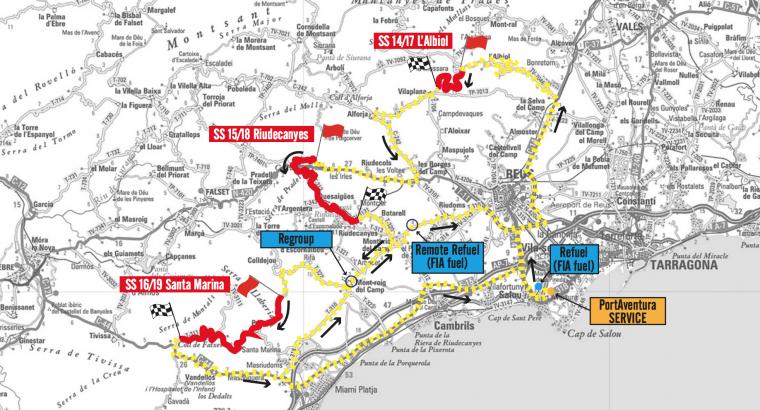 Imatge de l'itinerari de l'etapa de diumenge 8 d'octubre.
