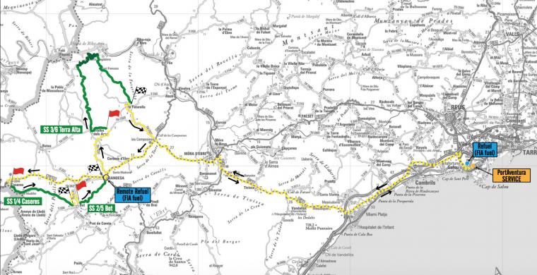 Imatge de l'itinerari de l'etapa de divendres 6 d'octubre.