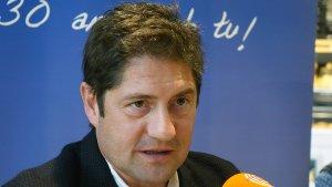 Lluís Fàbregas durant l'entrevista al Sempre Nàstic