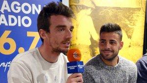 Manu Barreiro i Xavi Molina, durant l'entrevista al Sempre Nàstic