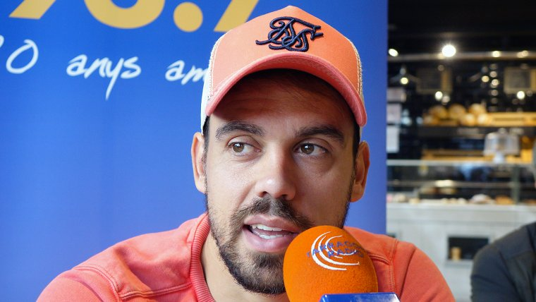 Javi Matilla durant l'entrevista al Sempre Nàstic d'aquest dilluns