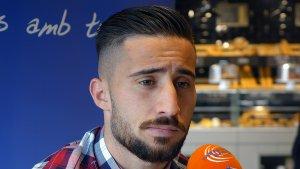 Omar Perdomo durant l'entrevista al Sempre Nàstic