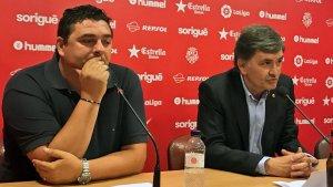 Emilio Viqueira i Josep Maria Andreu en l'inici de la compareixença de premsa