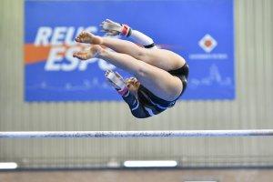 es imatges de la competició de gimnàstica artística femenina dels Jocs Mediterranis a Reus.