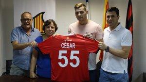 César Carballeira, presentat com a nou jugador del Reus Deportiu