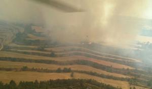 Imatge de la zona afectada pel foc.