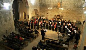 Imatge del concert de Nadal de l'Orfeó de Santa Coloma a Conesa el 2015.