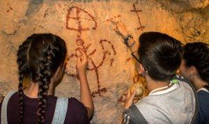 Rèplica de les pintures rupestres de les Muntanyes de Prades
