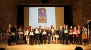 Els premiats per les associacions de comerciants durant la 3a Nit del Comerç.