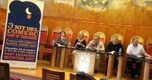 La presentació de l'acte, a la sala de Plens de l'Ajuntament de Montblanc.