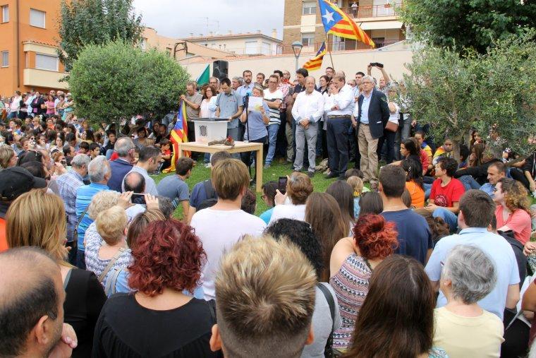 L'acte va comptar amb la presència d'alcaldes i regidors de tota la comarca.