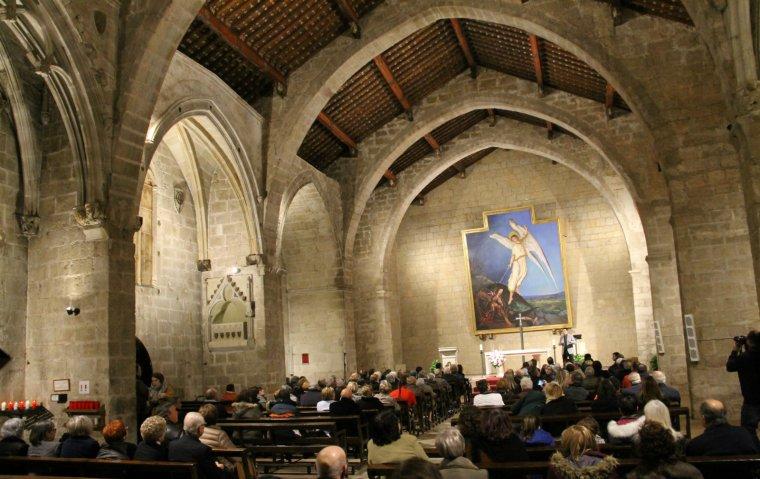 Vista de Sant Miquel amb la nova il·luminació.
